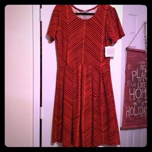 Brown and red dress. Brand new!